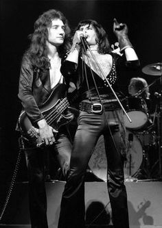 Queen ~ John Deacon & Freddie Mercury