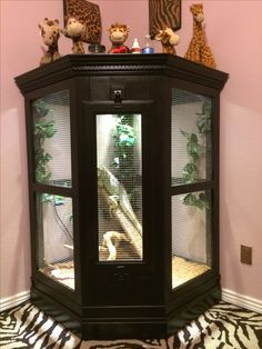 Custom cage for our 4 foot iguana, Spike, made by my hubby.