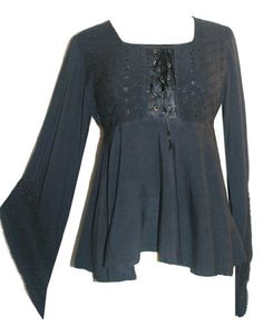 11B Agan Traders Gypsy Medieval Stylish Corset Tunic Top Blouse[Black; S] Agan Traders,http://www.amazon.com/dp/B00G4DCMXA/ref=cm_sw_r_pi_dp_s7Hbtb12NXDR8V71