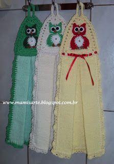 Crochet Towel Topper, Crochet Bunting, Knit Crochet, Crochet Hats, Towel Dress, Kitchen Hand Towels, Crochet Square Patterns, Hanging Towels, Crochet Kitchen