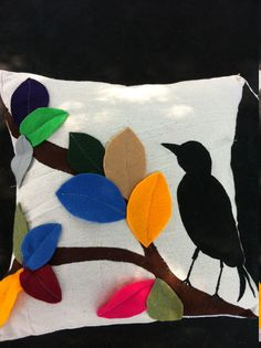 Bird Pillow with Feather Insert