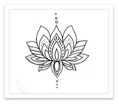Lotus Flower Temporary Tattoo
