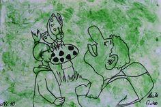 "Artmoney - unique piece of art doubling as a gift card ""Green money 10"""