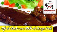 Receita de Bife de Alcatra com Molho de Cerveja Preta - Tv Churrasco