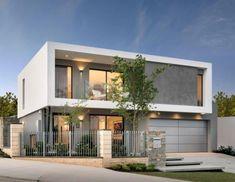 The Moda - Elevation Brick House Designs, Modern Exterior House Designs, Modern House Facades, Modern House Plans, Design Your Dream House, House Front Design, Home Building Design, Building A House, Affordable House Plans