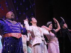 The cast of ALADDIN takes their opening night curtain call