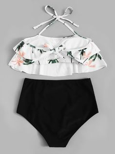 Random Tropical Ruffle Top With High Waist Bikini .- Random Tropical Ruffle Top With High Waist Bikini . Random Tropical Ruffle Top With High Waist Bikini . Modest Swimsuits, Plus Size Swimsuits, Cute Swimsuits, Women Swimsuits, Kids Swimwear, Bathing Suits For Teens, Summer Bathing Suits, Cute Bathing Suits, Bikini Modells