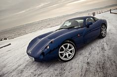 I have loved this car since I was 14!! I think i have seen one twice in real life. TVR Tuscan in dark purple/navy blue