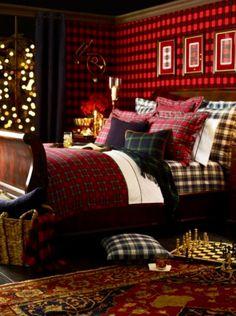 All plaid bedroom...w multiple plaids