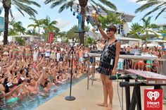 #IconaPop #Live #PoolScene ~ Photo credit: Getty for #iHeartRadio — at Fontainebleau Miami Beach.