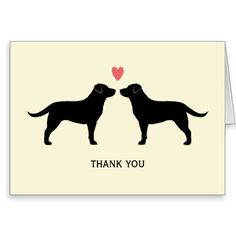 Black Labrador Retrievers Wedding Thank You