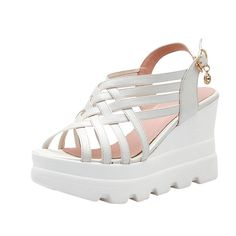 Latasa Womens Chic and Comfort Strappy Platform Wedge High Heel Casual Sandals *** Details can be found by clicking on the image.