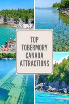 Ontario has a small town with a tropical vibe, that comes alive in the Summer. Find out the best attractions in Tobermory! Canada Travel, Travel Usa, Travel Tips, Travel Guides, Tobermory Canada, Alberta Travel, Vancouver Travel, Ontario Travel, Parks Canada