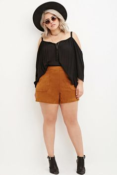How cute are these faux suede shorts?!