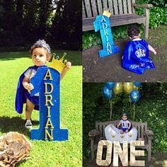 Personalized First Birthday Outfit Boy Prince birthday First Birthday Outfits Boy, Baby Boy 1st Birthday, First Birthday Parties, Prince Birthday Party, Mickey Birthday, Little Prince Party, 1st Birthdays, Birthday Decorations, Cake Smash