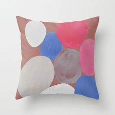 colour + pattern 3 Throw Pillow by Georgiana Paraschiv