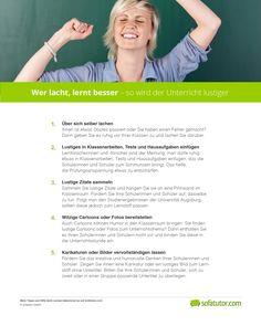 """Den """"Ernst des Lebens"""" sollte man nicht allzu ernst nehmen. Denn Humor im Unterricht fördert den Lernerfolg. Hier finden Sie 5 Tipps, wie Ihr Unterricht ganz einfach lustiger wird. Das PDF kann hier kostenlos heruntergeladen werden: http://magazin.sofatutor.com/lehrer/2017/10/02/wer-lacht-lernt-besser-so-wird-der-unterricht-lustiger/"""