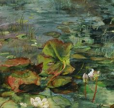 pond art by Claire Basler Paintings I Love, Beautiful Paintings, Art Paintings, Art Pictures, Art Images, Painting & Drawing, Watercolor Paintings, Painting Abstract, Acrylic Paintings