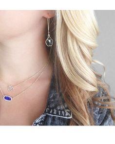 Cathy Earrings in Black - Kendra Scott Jewelry. Coming October 15!