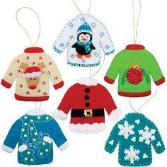 Holiday Sweaters II Felt & Sequin Kit - Herrschners