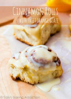 Copycat Pillsbury Orange Sweet Rolls recipe from Sally's Baking Addiction Orange Cinnamon Rolls, Orange Sweet Rolls, Sweet Roll Recipe, Delicious Desserts, Yummy Food, Sallys Baking Addiction, Four, Breakfast Recipes, Dessert Recipes