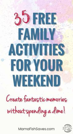 35 Fantastic Free Family Activities For Your Weekend - Finance tips, saving money, budgeting planner Activities To Do, Toddler Activities, Bonding Activities, Weekend Activities, Money Saving Tips, Money Tips, Free Fun, Budgeting Tips, Family Traditions