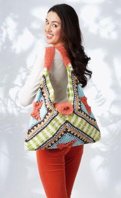 Free Tri-Fold Tote Crochet Pattern.