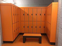 Benches, Lockers, Locker Storage, Compact, Autumn, Orange, Outdoor Decor, People, Black