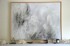 I absolutely love this piece of art and want it in my home. #gray #art #painting