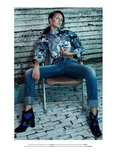 ali stephens model2 Ali Stephens is a Rebel in Denim for Flaunt by Zoey Grossman