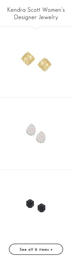 """Kendra Scott Women's Designer Jewelry"" by modalist ❤ liked on Polyvore featuring jewelry, earrings, kendra scott, stud earrings, gold earrings, gold jewellery, yellow gold stud earrings, drusy jewelry, iridescent earrings and silver jewelry"