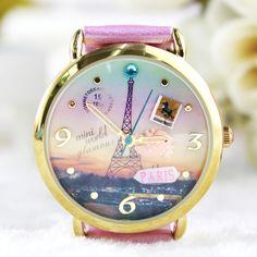 Retro Eiffel Tower Polymer Clay Watch-pink on Luulla by ana9112