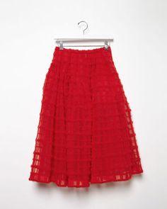 La Garçonne Simon Rocha Embroidered Tulle Skirt