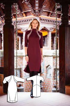 High Collar Dress 10/2015 #113AB http://www.burdastyle.com/pattern_store/patterns/high-collar-dress-102015?utm_source=burdastyle.com&utm_medium=referral&utm_campaign=bs-tta-bl-150914-CherryBlossomCollection113B