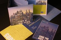 "Invitation and program brochure for ""The State of Real Estate"" annual conference"