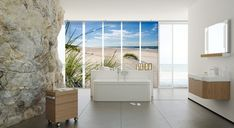 Fernwehkollektion – Dünen am Strand. Damit holen Sie sich das Gefühl und die … Wanderlust Collection – Dunes on the beach. With it you bring back the feeling and the peace of the holiday back to your apartment. Room Divider Curtain, Curtain Room, Home Interior, Wanderlust, Curtains, Feelings, Beach, Curtain Ideas, Interiordesign