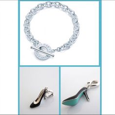 {Tiffany & Co} Toggle Bracelet with Shoe Carm ✨Tiffany & Co. Stirling Silver Toggle Bracelet with Stirling Silver with Black Enamel Finish & Tiffany Blue Sole Shoe Carm✨ 100% Authentic✨ Worn ONLY ONCE in impeccable condition ✨Additional pictures upon request serious buyers only please✨ Please note this item is Excluded from bundles Tiffany & Co. Jewelry Bracelets