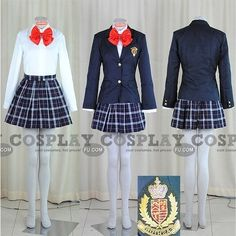Custom Japanese Uniform School Girl (Akane) - Tailor-Made Cosplay... ($78) ❤ liked on Polyvore featuring anime, cosplay and outfit