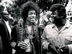 Jimi Hendrix y Buddy Miles
