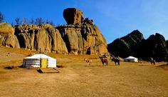 A Ger Tent in Terelj National Park, Mongolia. Click for full article.