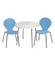 Look what I found on #zulily! Blue Modern Table & Chair Children's Set #zulilyfinds