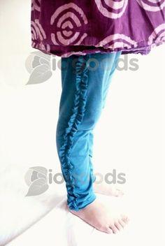Organic Ruffle Leggings for Girls by IOGoods on Etsy, $27.00