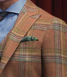 Odd pattern but combo assembled well Dapper Gentleman, Gentleman Style, Plaid Suit, Plaid Jacket, Looks Style, My Style, Fashion Corner, Sharp Dressed Man, Sports Jacket