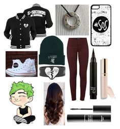 """5sos concert"" by anonymous2k21 ❤ liked on Polyvore featuring Converse, J Brand and MAKE UP FOR EVER"