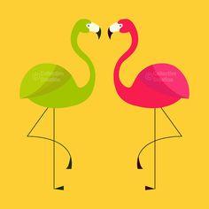 Flamingo Digital Clip Art Clipart Set par CollectiveCreation via Etsy