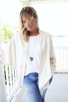 how to make a slouchy sleeve cardigan  ||  easy Slouchy Cardi DIY