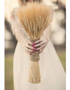 Bouquet de mariée épis blé
