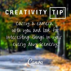 Take photos everywhere! Be inspired by your surroundings. #creativitytip #inspiration #socialmedia #TheDalleyLama ... #Repost via @canva