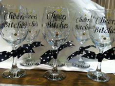 Personalized Wine Glass 20 oz. Bachelorette Birthday by cgirard5, $10.00
