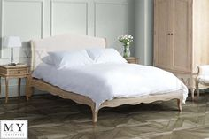 Les Milles French provence  Weathered solid Oak - Shabby chic  Bed 4ft6/5ft/6ft